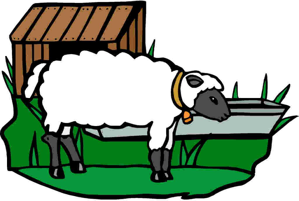 Sheep clip art farm. Cattle clipart home