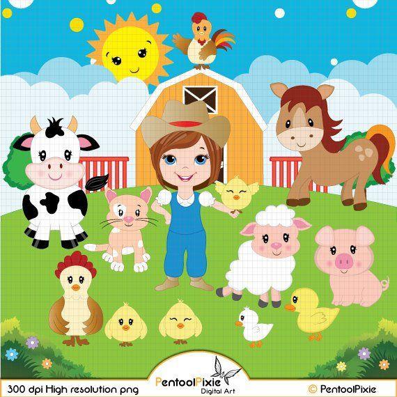 Farm animals farmyard cow. Barn clipart sheep