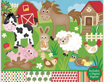 Barn clipart sheep. Life in the farm