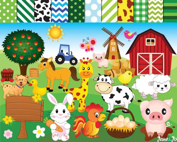 Barn clipart sheep. Farm animals animal horse