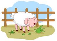 Free farm animals clip. Barn clipart sheep