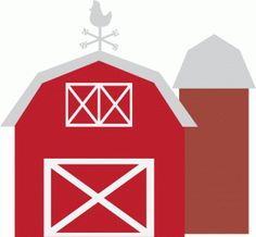 Farm svg scrapbook cut. Barn clipart silhouette