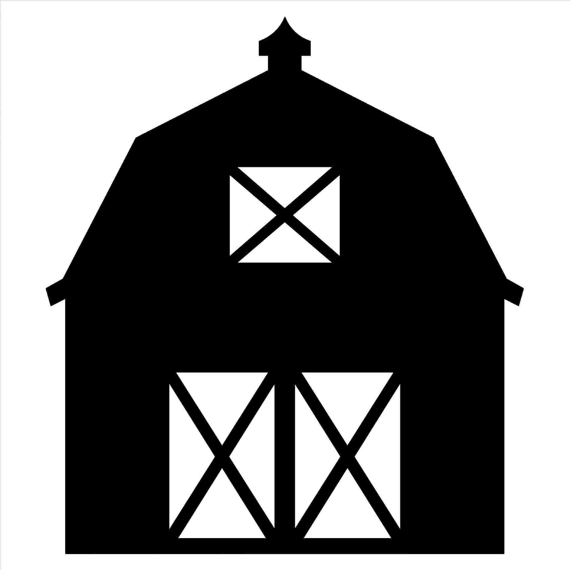Farm at getdrawings com. Barn clipart silhouette