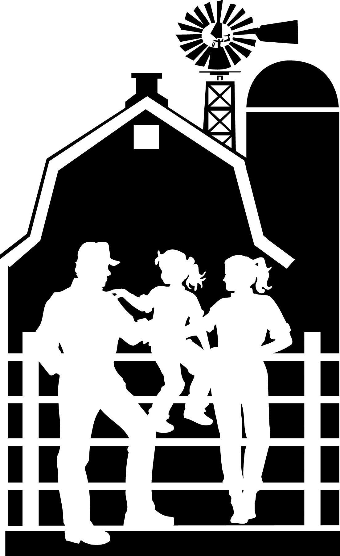 Barn clipart silhouette. Farm clip art iowa