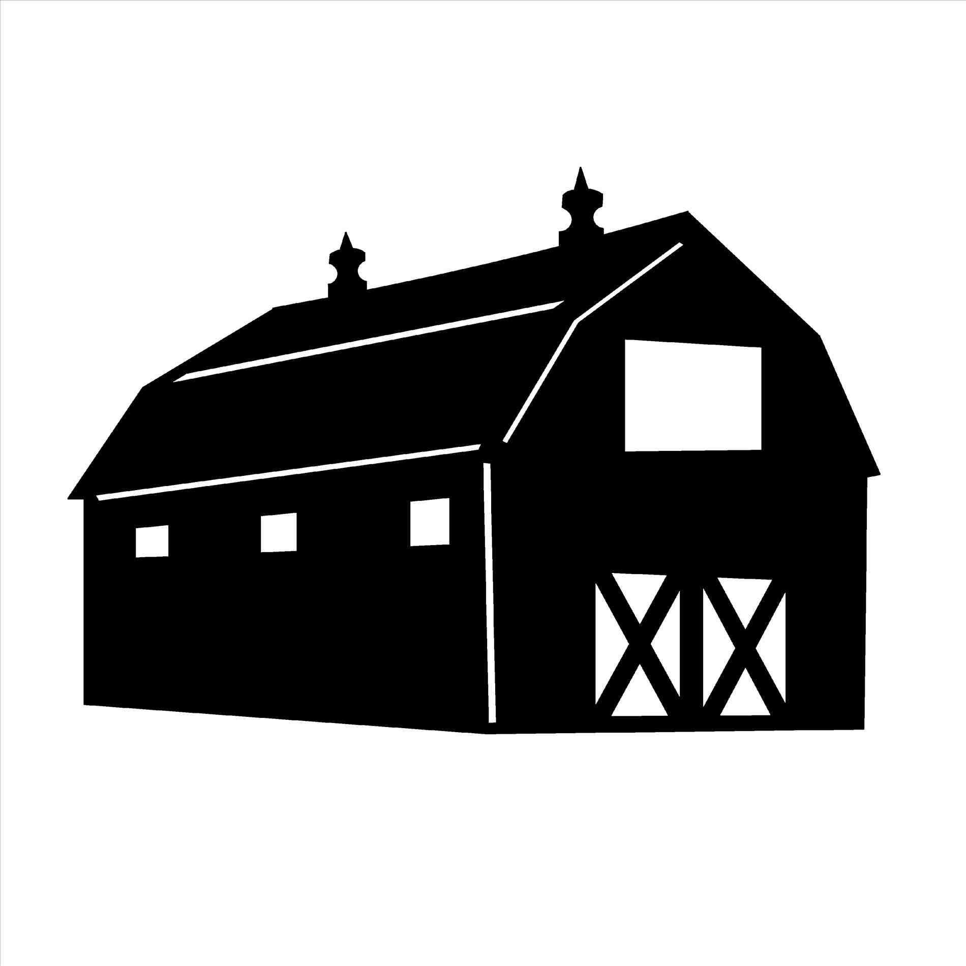 Barn clipart simple. Black and white publizzity