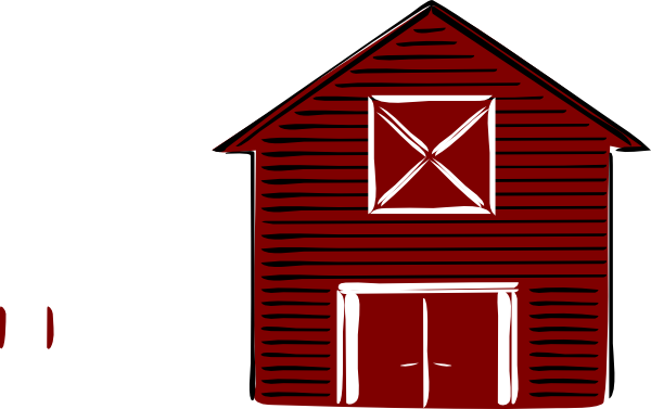 Drawing free download best. Barn clipart simple