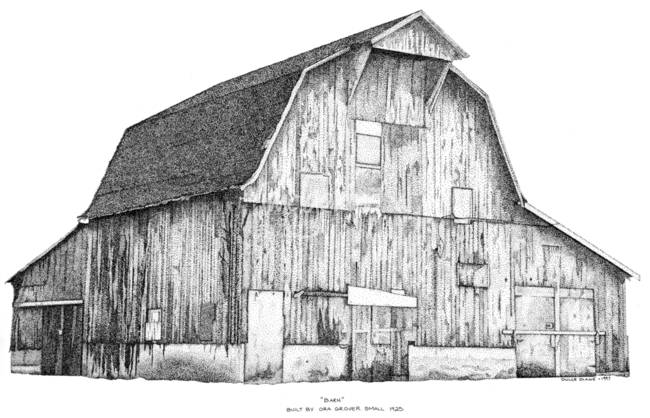 Stunning drawings and illustrations. Barn clipart traditional