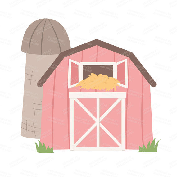Barn clipart traditional. Farm pink pencil and