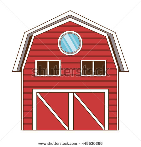 Barn clipart traditional. Red wooden clipground