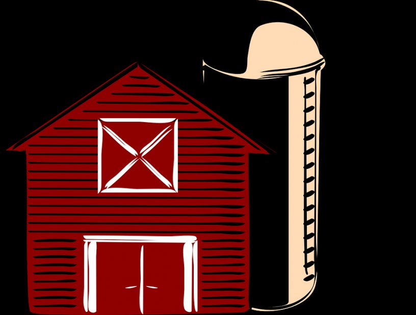 Barn clipart traditional. Silo america countryside red