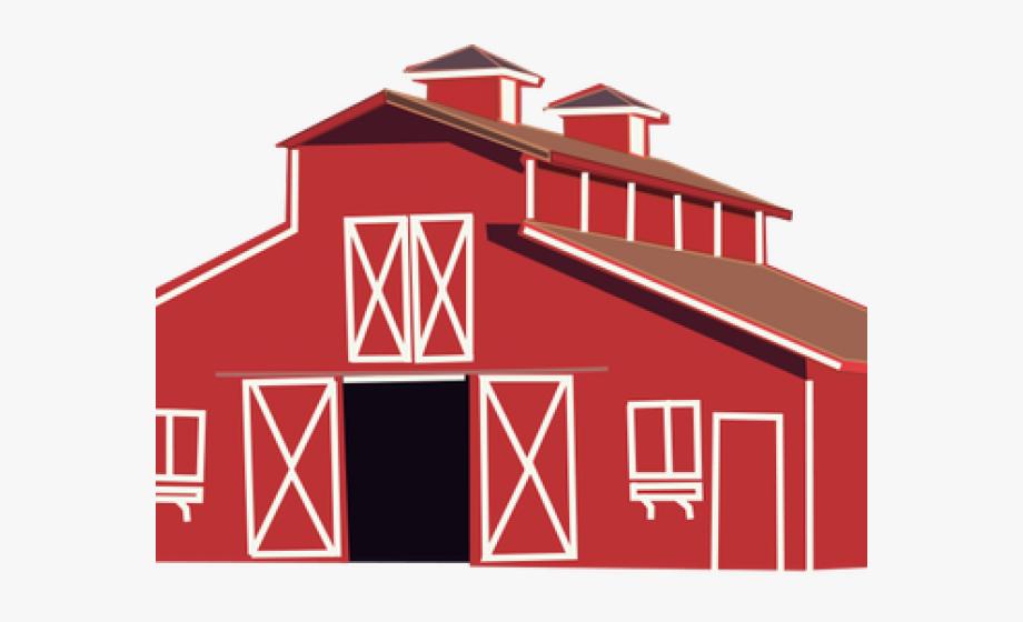 Farm house barn with. Farmhouse clipart pen