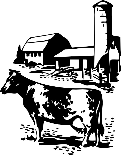 Cow clipart barn. And clip art free