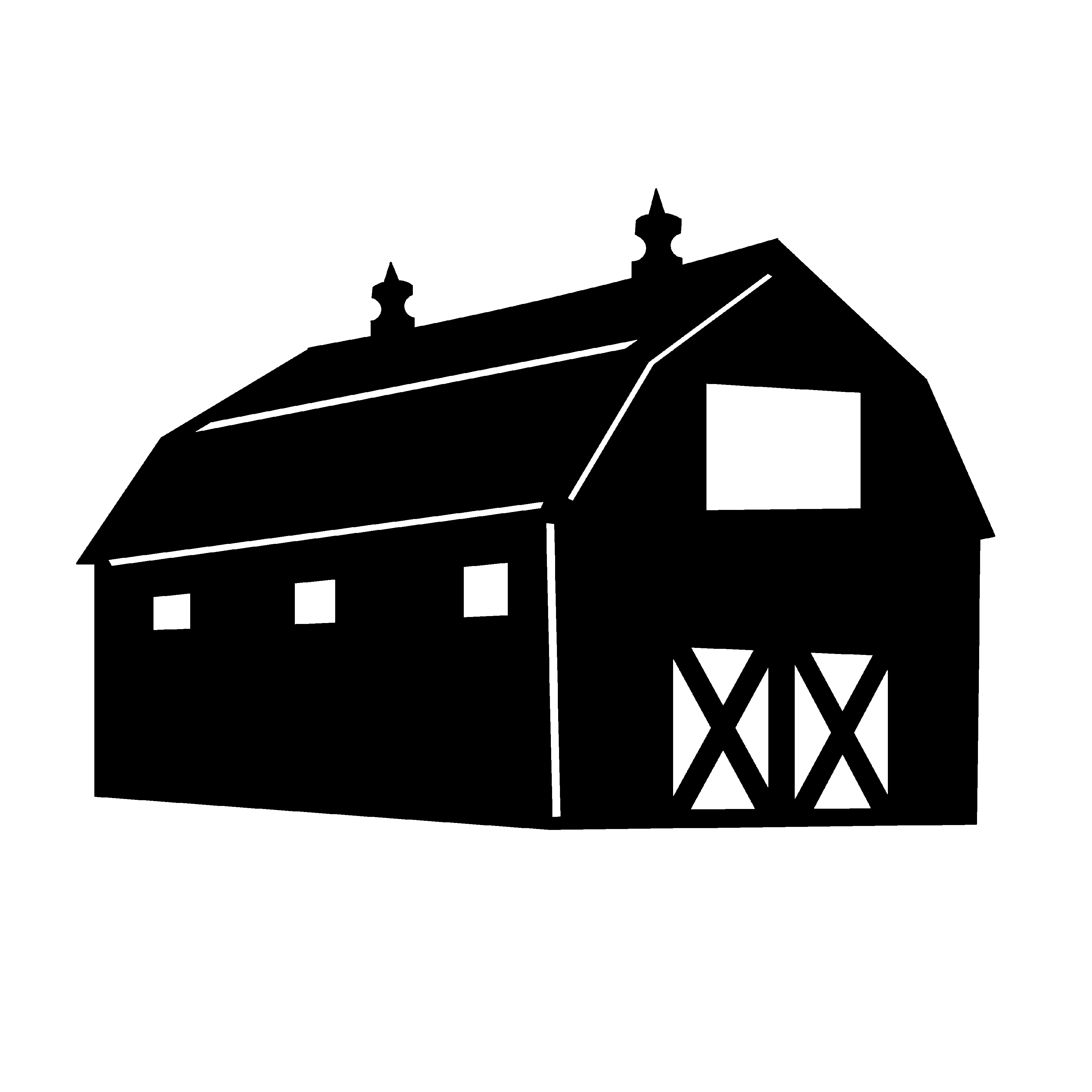 Barn clipart vector. Best free black and