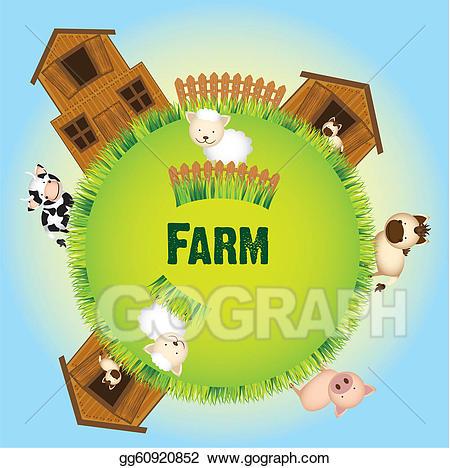 Barn clipart vector. Art farm animals and