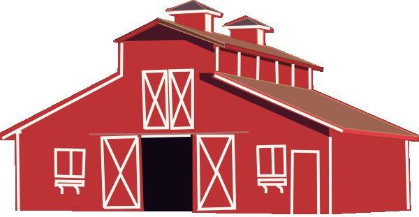Red clip art at. Barn clipart vector