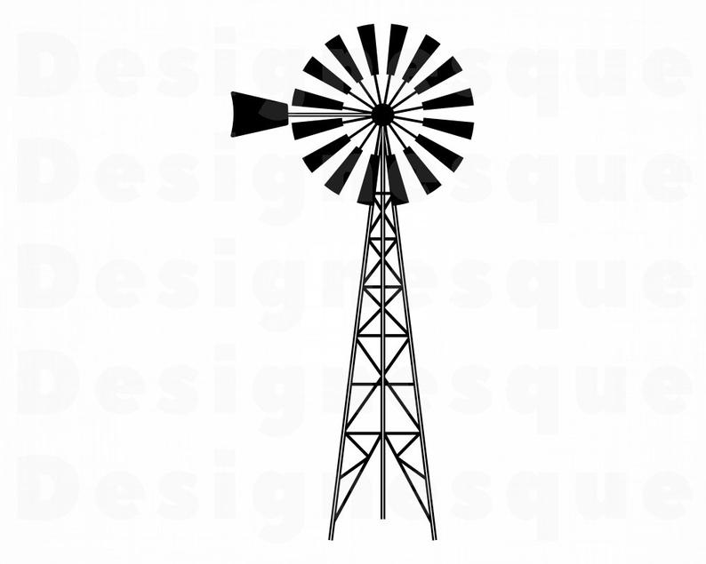 Barn clipart windmill. Farm svg files for
