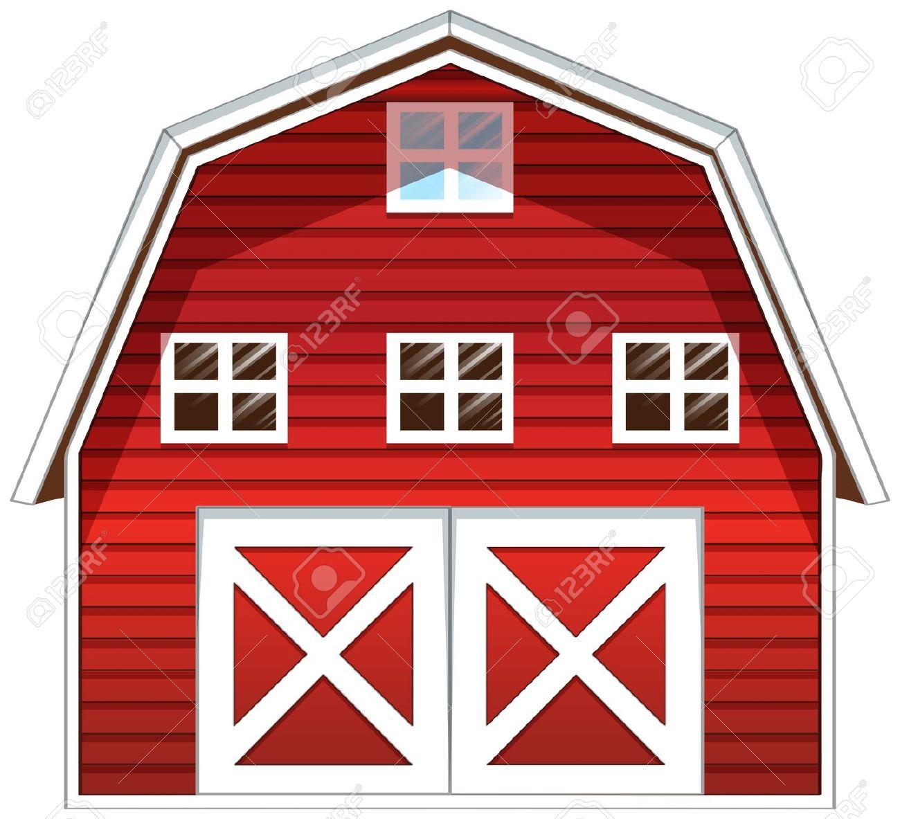 Barn clipart window. Red door