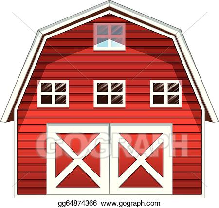 Barn clipart window. Vector stock a red