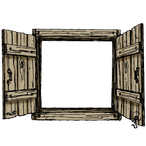 Exterior country with open. Barn clipart window