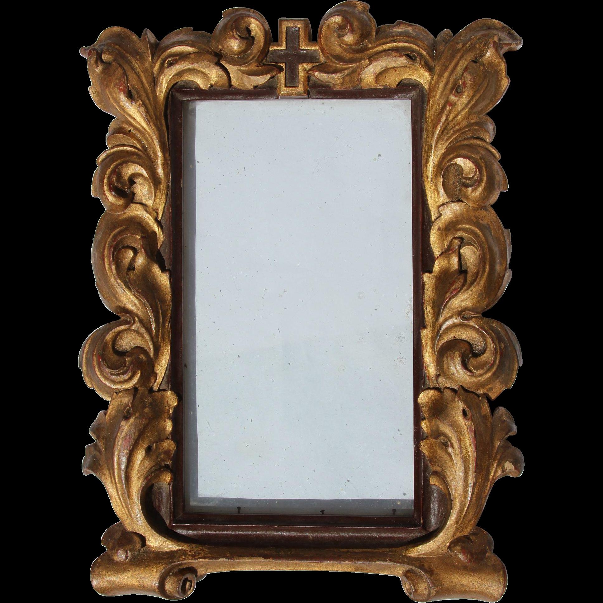Original th century wood. Baroque frame png