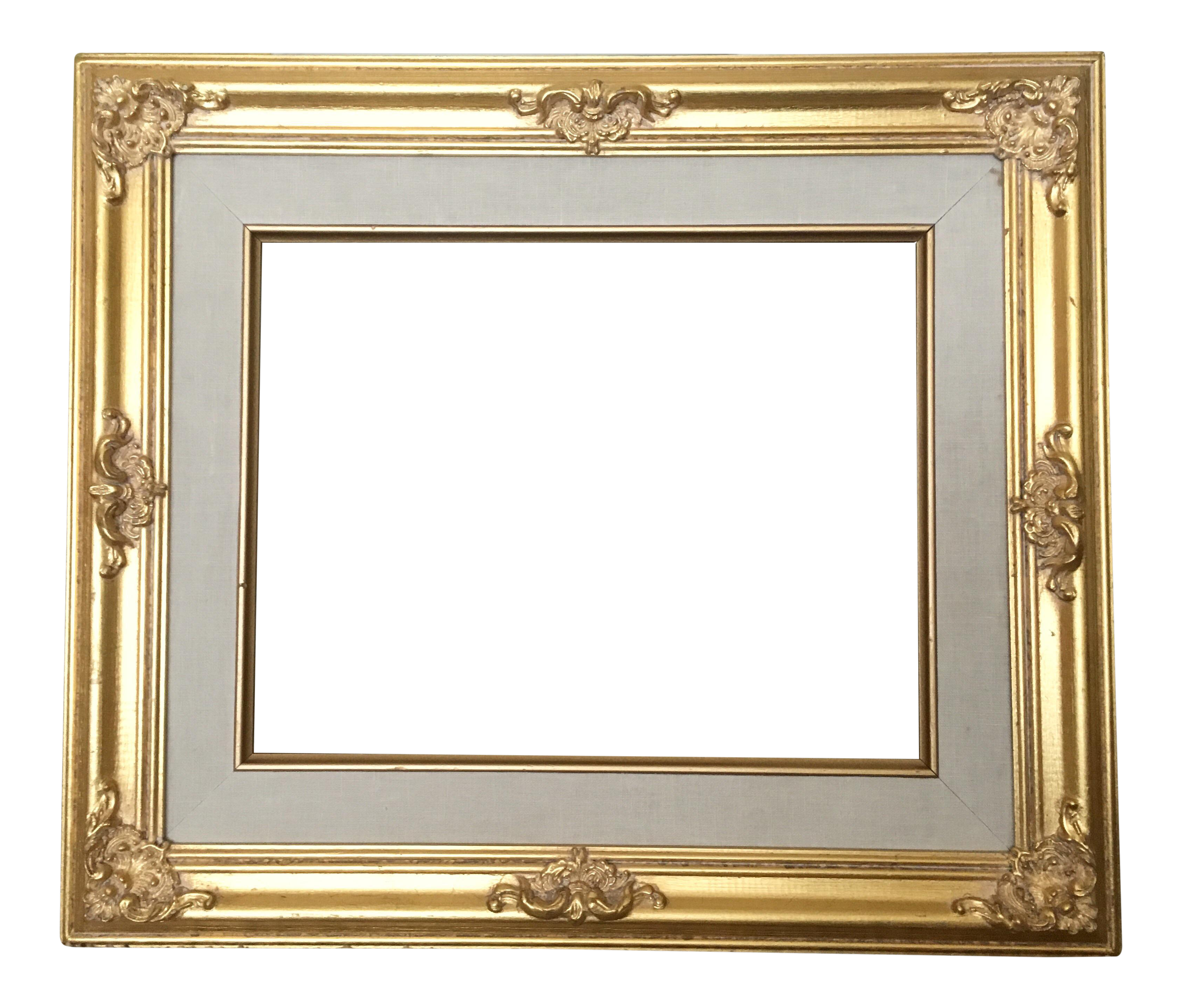 French gold chairish . Baroque frame png