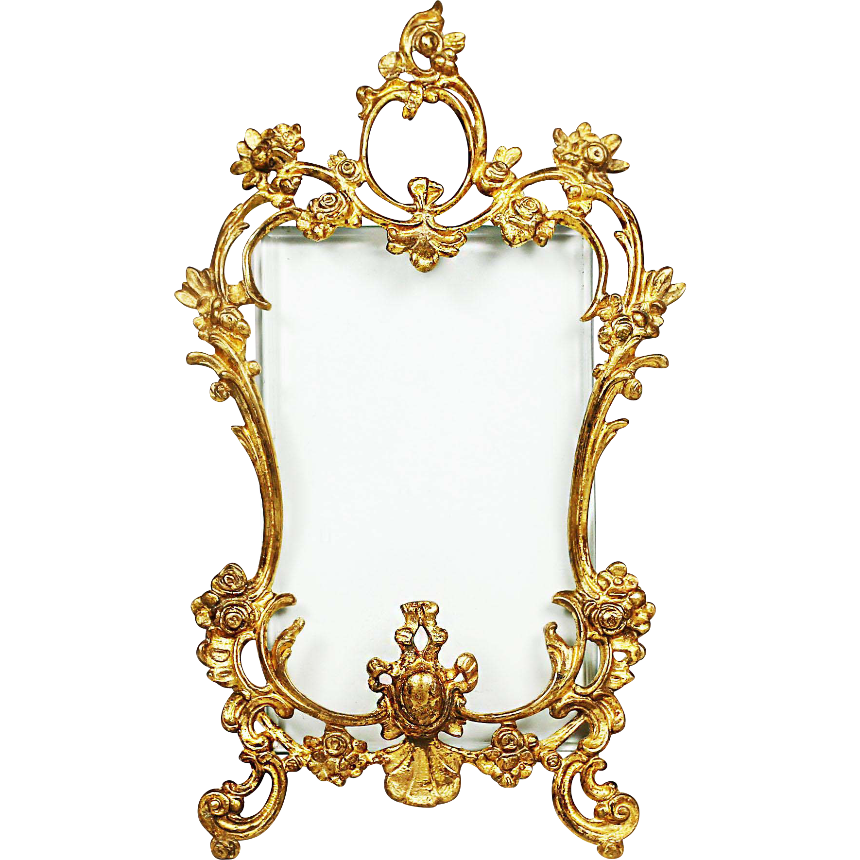 Baroque frame png. Antique french rococo gilded