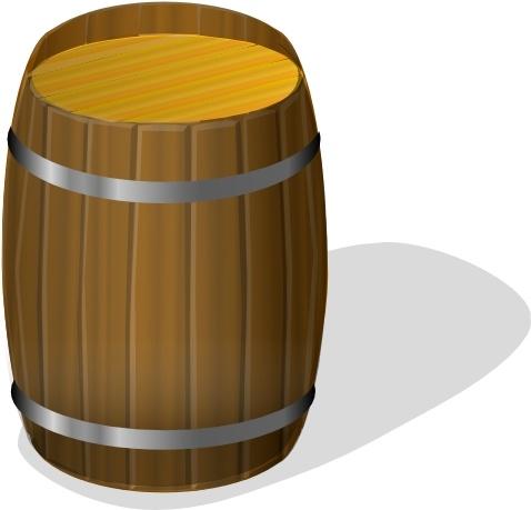 Barrel clipart. Wooden clip art free