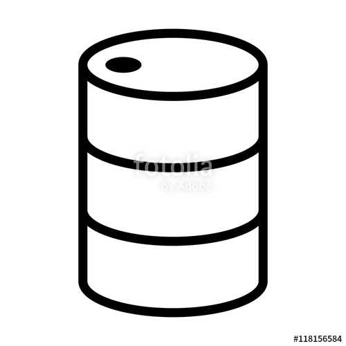 Barrel clipart 55 gallon. Oil drum container line