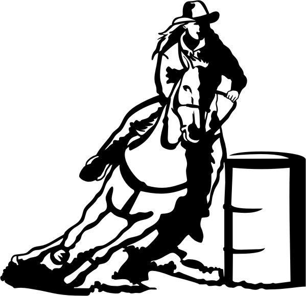 best horse clip. Barrel clipart barrel racing