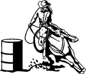 Barrel clipart barrel racing. Vinyl cut decal