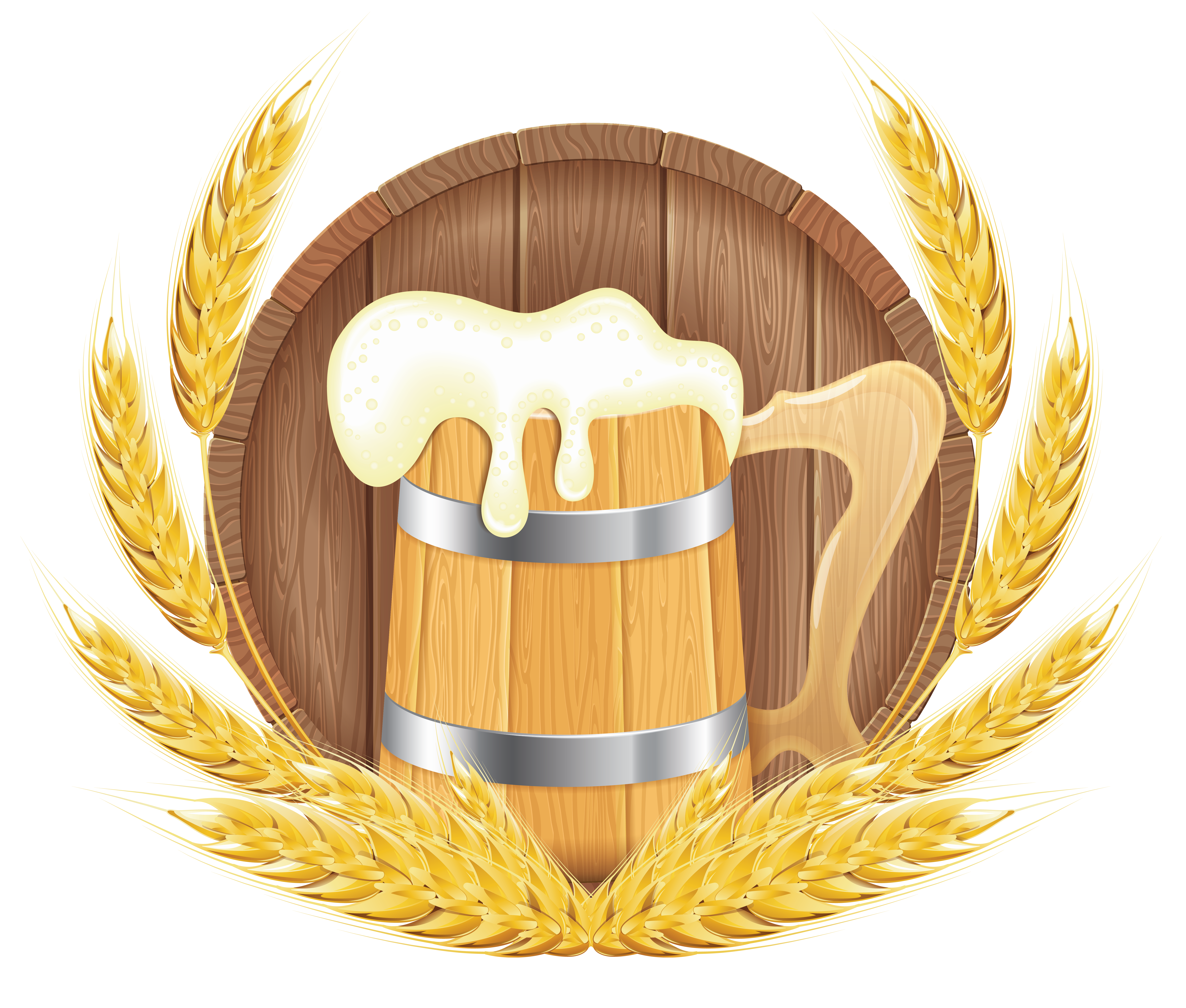 Wheat clipart cartoon. Oktoberfest beer barrel mug