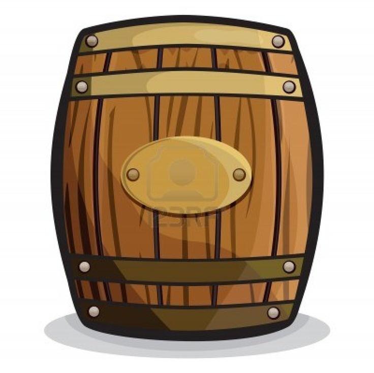 Wooden . Barrel clipart cartoon