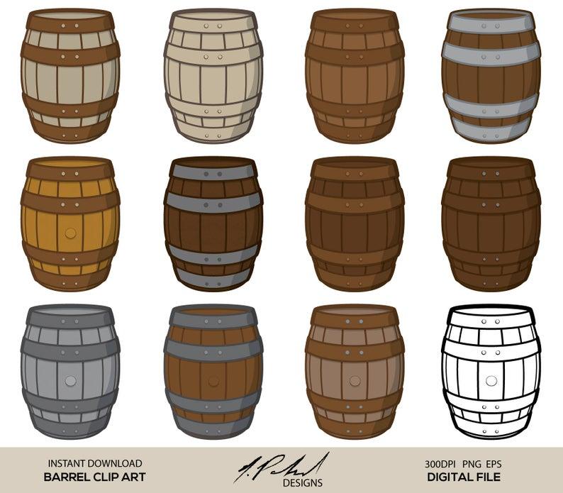 Barrel clipart clip art. Digital file wood png