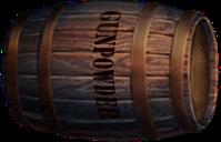Potassium nitrate by man. Barrel clipart gunpowder