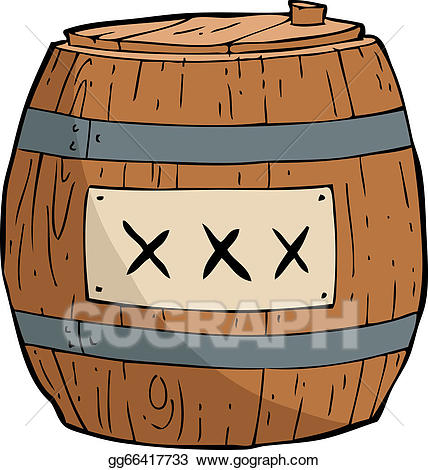 Barrel clipart gunpowder. Vector illustration of eps