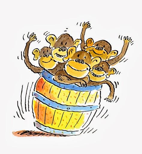 Full of . Barrel clipart monkeys