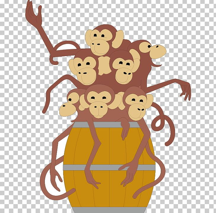 Of paper png animals. Barrel clipart monkeys