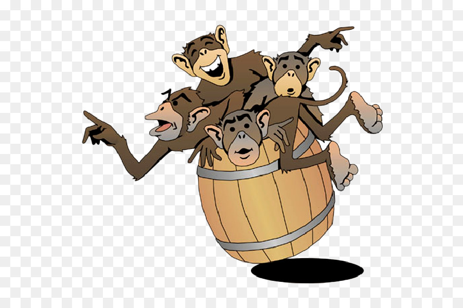 Barrel clipart monkeys. Of clip art monkey