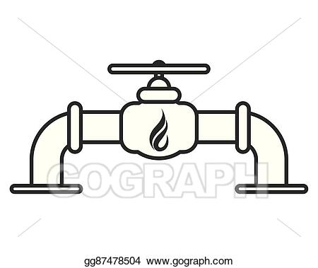 Chemical clipart pipelines. Eps illustration natural gas
