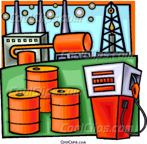 Petroleum and refining vector. Barrel clipart natural gas