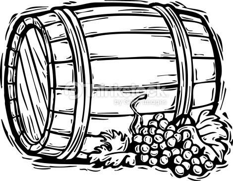 collection of wine. Barrel clipart oak barrel