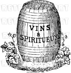 Barrel clipart old fashioned. Wine sketch to their