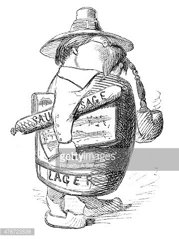 Man in beer engraving. Barrel clipart old fashioned