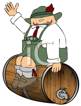 Barrel clipart old fashioned. Iclipart octoberfest man in