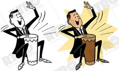 Barrel clipart old fashioned. A man hopping up