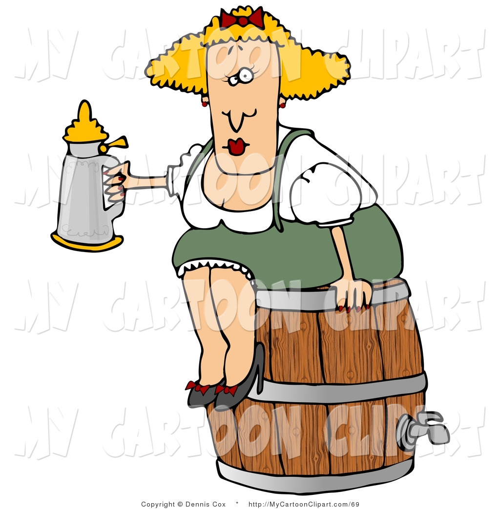 Stein cliparts oktoberfest beer. Barrel clipart old fashioned