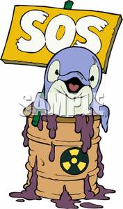 Barrel clipart toxic. Image a dolphin in