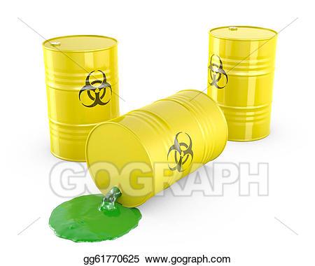 Stock illustrations waste spilling. Barrel clipart toxic
