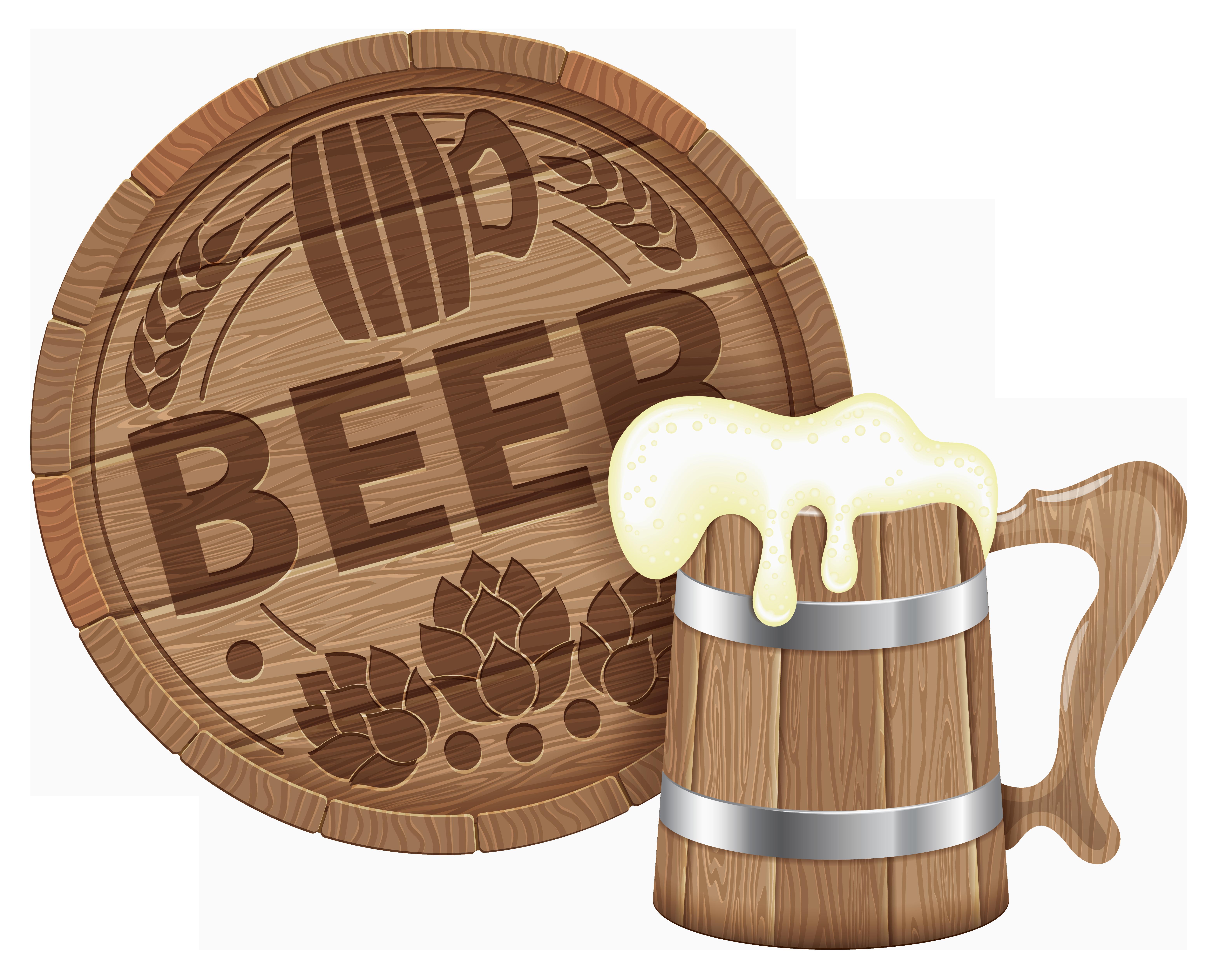 Barrel clipart transparent background. Oktoberfest beer and mug