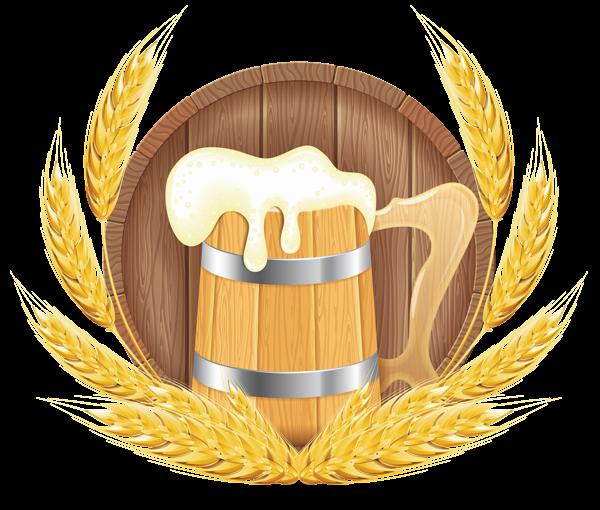 Oktoberfest beer mug and. Barrel clipart transparent background